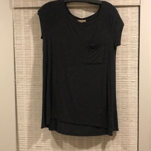 Bordeaux stretchy charcoal tee